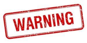 Short Sale Process warning